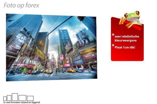 Foto afdrukken op forex